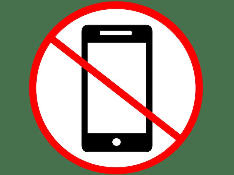 Olvidarse del móvil durante unos días 1