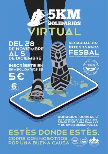 Cartel Sexta edición de los 5K Solidarios Virtual