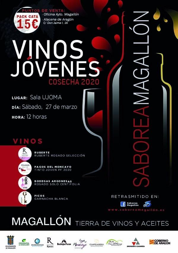Cartel Vinos jóvenes 2020 Saborea Magallón