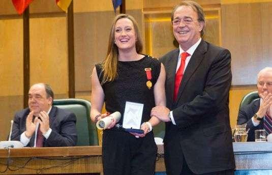 Medalla al mérito deportivo de la ciudad de Zaragoza para Mireia Belmonte