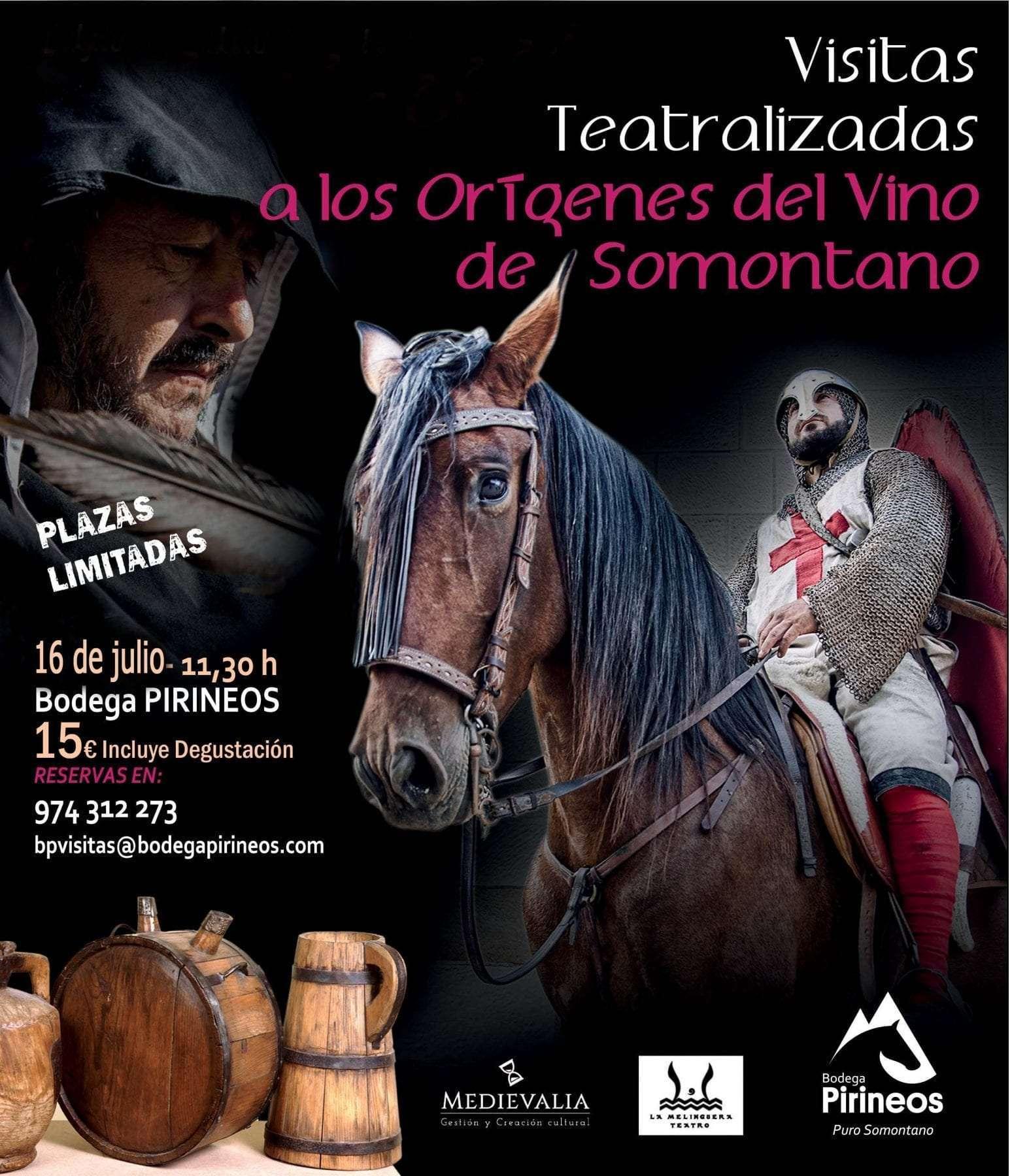 Segunda Visita Teatralizada a los orígenes del vino de Somontano, en Bodega Pirineos