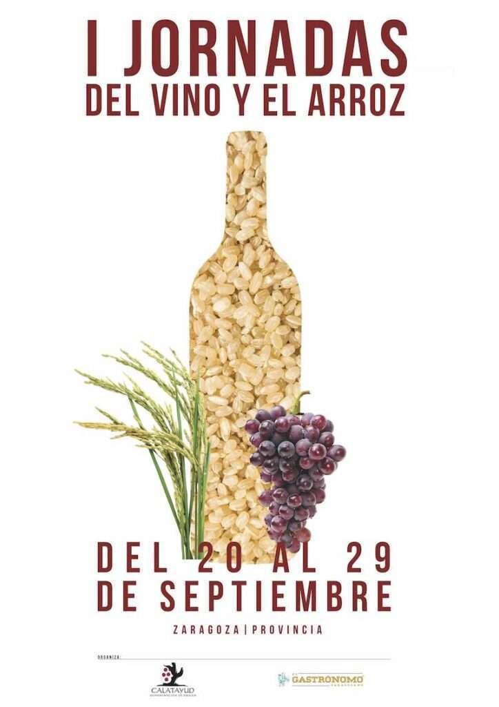 Cartel Jornadas Gastronomicas del vino y del arroz_en DOP Calatayud
