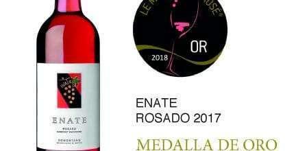 El ENATE ROSADO 2017 obtiene unas de las 13 Medallas de ORO conseguidas por los vinos Españoles en el Concurso Le Mondial du Rosé® 2018.