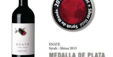 ENATE Syrah-Shiraz 2015, único vino aragonés que recibe una Medalla de Plata en el concurso internacional Syrah du Monde