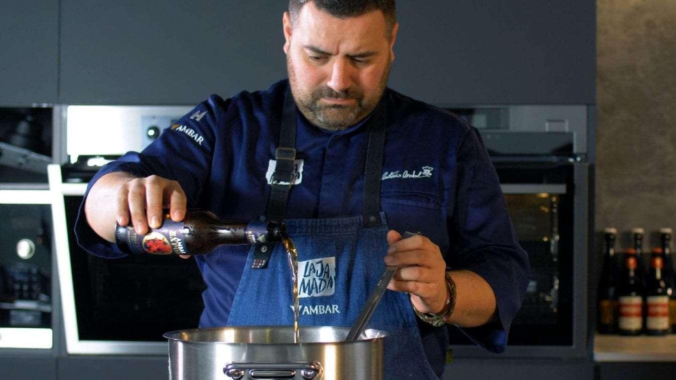 Ambar Export reta a 1600 «Foodies Cerveceros» de la  mano del chef Antonio Arrabal