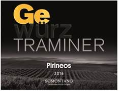 Pirineos renueva su Gewürztraminer 2016