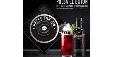 Pulsa el botón en el Bar clandestino de Brockmans Gin
