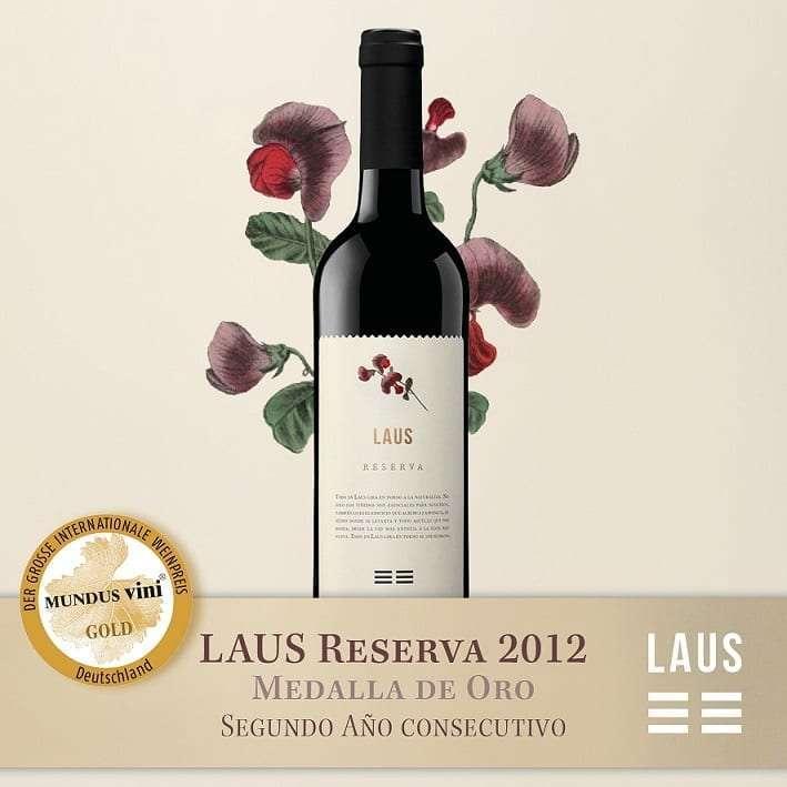LAUS Tinto Reserva 2012  Medalla de Oro en la Cata de Primavera del Gran Premio Internacional del vino MUNDUS VINI 2018.