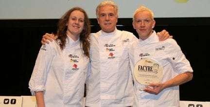 Los chefs aragoneses Toño Rodríguez y Nerea Bescós, ganadores del V Certamen Nacional de Cocina